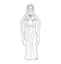 praying virgin mary vector image