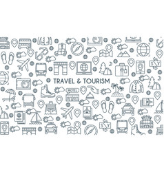 thin line design travel banner vector image