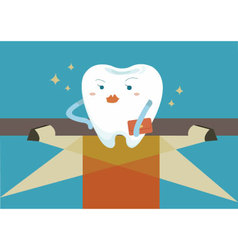 Tooth for super star vector image vector image