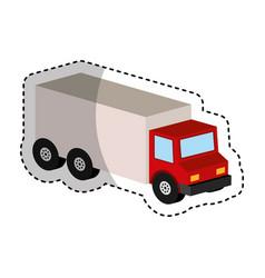 truck vehicle isometric icon vector image vector image