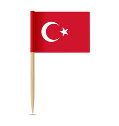 turkey flag flag toothpick vector image