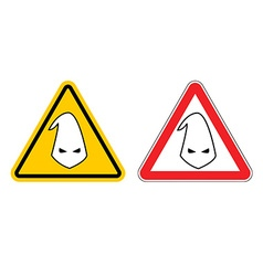 Warning sign of racism Hazard Yellow Sign race vector image vector image