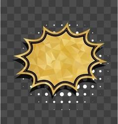 Gold star sparkle comic text bubble vector image