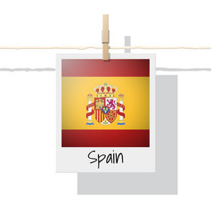 photo of spain flag vector image