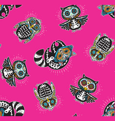 seamless pattern with mexican skulls vector image vector image