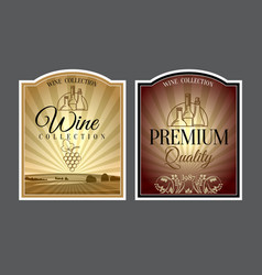 set of labels for wine vector image vector image