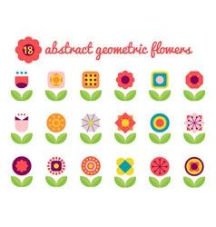 18 geometric flower vector