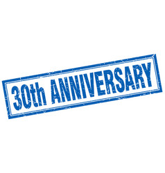 30th anniversary square stamp vector