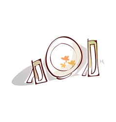 A dinnerware vector