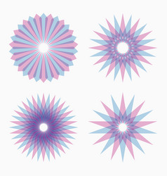 abstract circular geometric shapes vector image