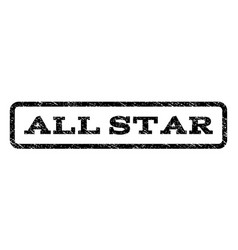 all star watermark stamp vector image