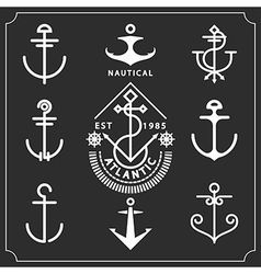 Anchors set vector