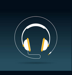 Audio headphone icon vector