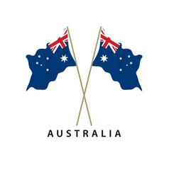 Australia flag template design vector