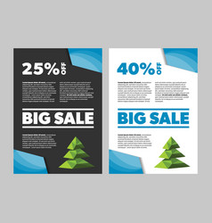 big sale new year or christmas banner vector image