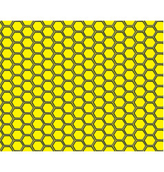 Black hexagon mesh on yellow background design vector