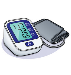 Blood pressure monitor design vector