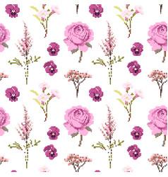 Botanical flower seamless pattern flowers vector