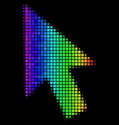 Bright dot cursor arrow icon vector