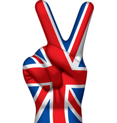 British victory sign vector image