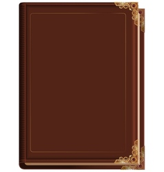 Brown closed book vector image