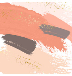 Brush strokes in gentle nude pastel colors on a vector