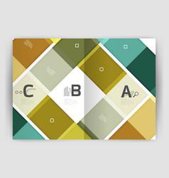 Business a4 business brochure geometrical template vector