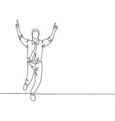 business race concept one continuous single line vector image