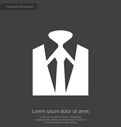 business wear premium icon white on dark backgroun vector image