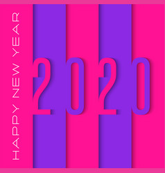 calendar cover 2020 number logo cut out paper vector image