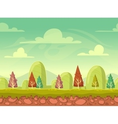 Cartoon seamless nature background vector