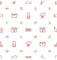 Charge icons pattern seamless white background vector