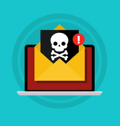 Concept virus piracy hacking and security vector