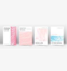 Cover page design template minimal brochure layou vector