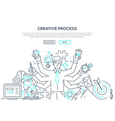 Creative process - modern line design style vector