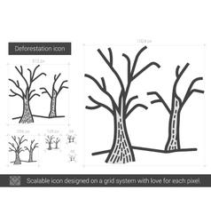 Deforestation line icon vector