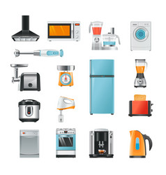 different household in cartoon style electrical vector image