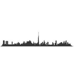 dubai city skyline united arab emirates vector image