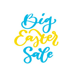 Easter sale banner lettering hand drawn vector