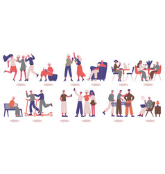 Extrovert and introvert characters sociable vector