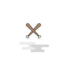 flat baseball bat icon vector image