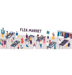 flea market flat sellers and vector image