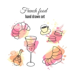 French food pastry and vector image