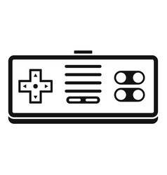 gaming controller icon simple style vector image