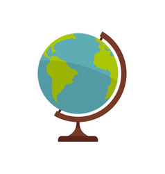 Geographic planet icon flat style vector