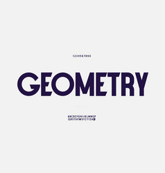geometry font bold style vector image