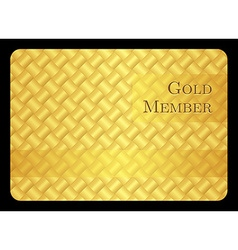 Golden member card with modern pattern vector