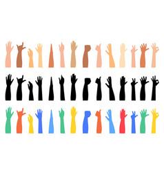 hands up vector image