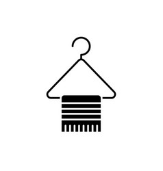 Hangers for clothes black icon sign on vector