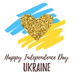 happy independence day ukraine vector image